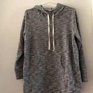 NWOT Heather grey maternity hoodie